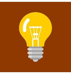 Light bulb shape as inspiration concept flat icon vector