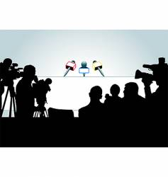media people silhouettes vector image vector image