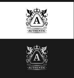 Monogram logo template luxury letter vector