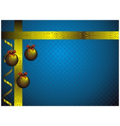 new year card with golden christmas decorations vector image vector image