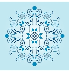 Pattern with floral elements vector image vector image