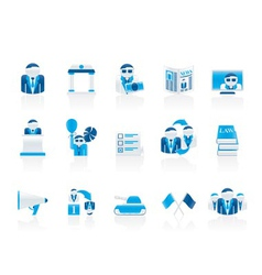 politics and political party icons vector image