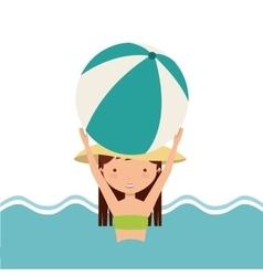 Pool party enjoy icon vector