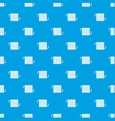 Radiator pattern seamless blue vector