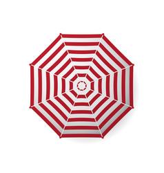 Realistic beach umbrella striped vector