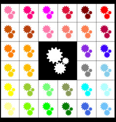 settings sign felt-pen 33 vector image
