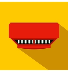 Smoke detector flat icon vector