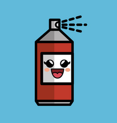 Spray paint comic character icon vector