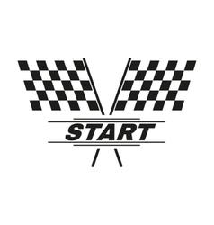 The start icon start symbol flat vector