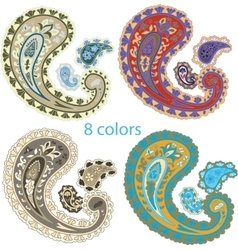 Traditional ornamental set Paisley design vector image vector image