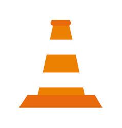 traffic cone symbol vector image