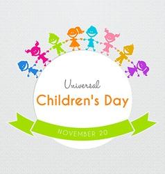 Universal Children day poster vector image vector image