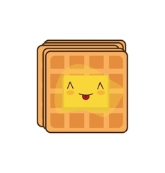 Waffle breakfast food menu icon vector image vector image