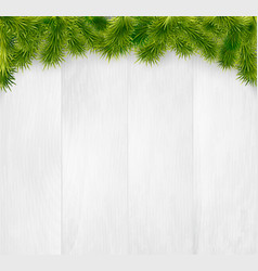 winter christmas wooden background vector image vector image