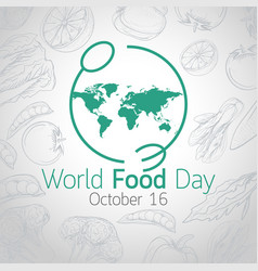 world food day icon vector image