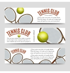 Tennis club banner collection vector