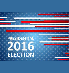 Usa presidential election 2016 brochure template vector