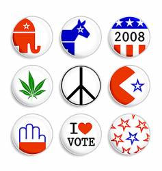 set of election badges vector image
