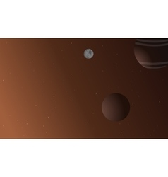 Planet outer space vector image