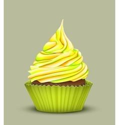Cupcake with multi-color crea vector