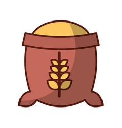 Sack of wheat icon vector