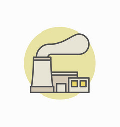 Nuclear power plant colorful icon vector