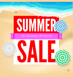 Summer sale selling ad banner text design with vector