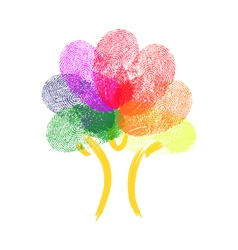 Tree made of fingerprints vector