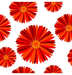 Floral seamless pattern with red flowers vector image