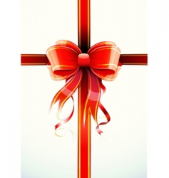 Gift wrapped vector