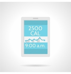 Calorie counter app flat color icon vector