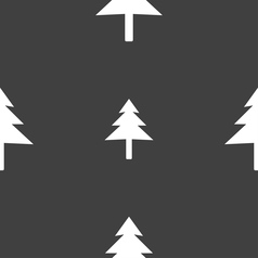 Christmas tree icon sign seamless pattern on a vector