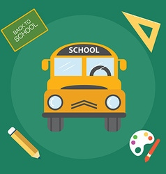 Yellow school bus back to school vector