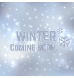 Winter coming soon vector