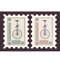 Retro postage stamps vector