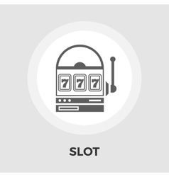 Slot flat icon vector