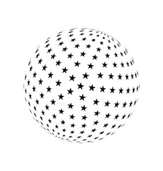 Abstract sphere element vector image