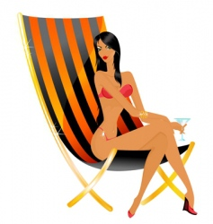Sunbathing woman vector