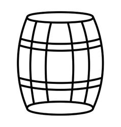 White barrel and black stripes graphic vector