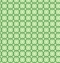 Abstract geometric circles seamless pattern green vector image vector image