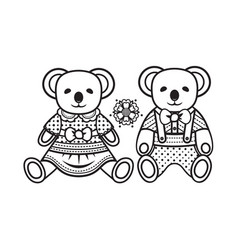 baby toy koala isolated picture vector image vector image