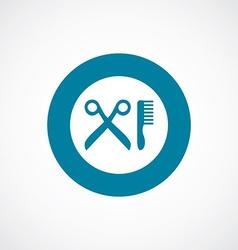 barbershop icon bold blue circle border vector image