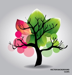 Beautiful tree with flowers vector