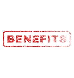 Benefits rubber stamp vector
