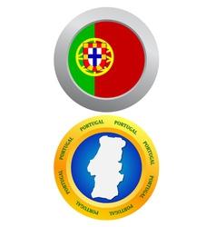 button as a symbol PORTUGAL vector image vector image