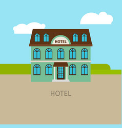 colored urban hotel building vector image vector image