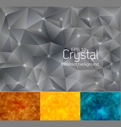 crystal abstract background 4 vector image vector image
