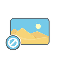 Disable image photo photography picture icon vector
