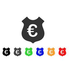 euro security icon vector image
