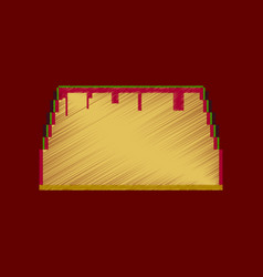 flat shading style icon pixel tacos vector image vector image